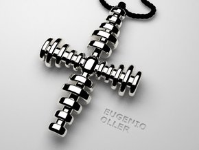 CROSS STEPS in Polished Silver