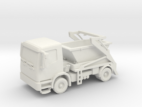 Truck & Container 01. HO Scale (1:87) in White Natural Versatile Plastic
