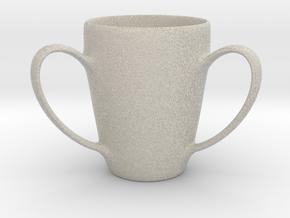 Coffee mug #2 XL - 3 Handles in Natural Sandstone