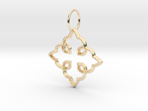 Royal Cross Pendant in 14K Yellow Gold