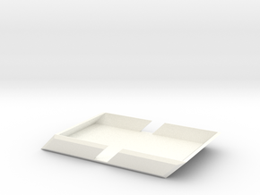 Angle Wallet in White Processed Versatile Plastic