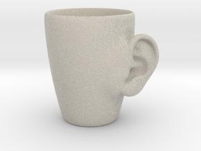 Coffee mug #3 XL - Real ear in Natural Sandstone