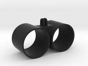 Double Gauge Holder Go Pro Mounted - 52mm  in Black Strong & Flexible