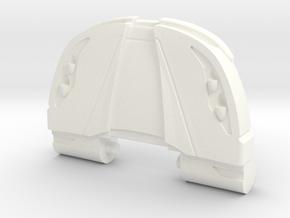 Ferrari Faux Bonnet Chest Plate in White Processed Versatile Plastic