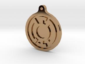 Blue Lantern Key Chain in Polished Brass