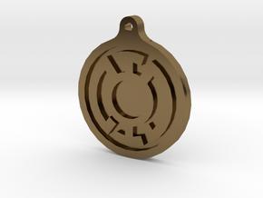 Blue Lantern Key Chain in Polished Bronze