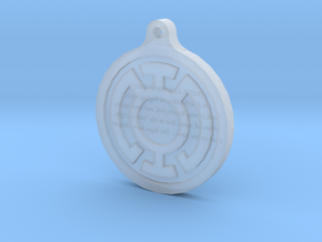 Blue Lantern Key Chain in Smoothest Fine Detail Plastic