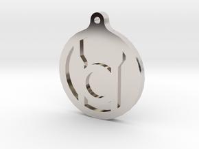 Red Lantern Key Chain in Platinum