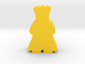 Game Piece, King with cape in Yellow Processed Versatile Plastic