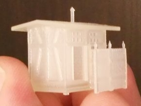 Z Scale European Style Railroad Outhouse in Smooth Fine Detail Plastic