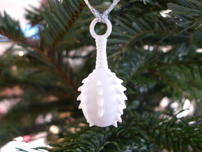 Lagena Ornament - Science Gift in White Processed Versatile Plastic