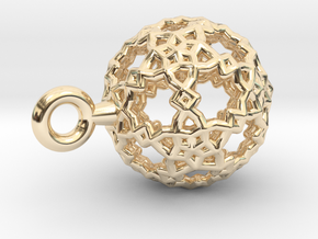 Sphere-132-small in 14k Gold Plated Brass