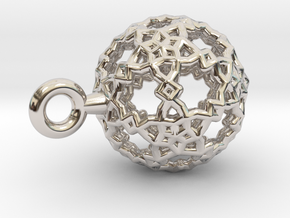 Sphere-132-small in Rhodium Plated Brass