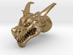 Dragon Head in Polished Gold Steel