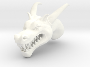 Dragon Head in White Processed Versatile Plastic