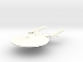 Hood Class Cruiser in White Strong & Flexible Polished