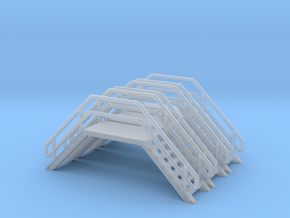 N Scale 3x Crossover Stairs #3 in Smooth Fine Detail Plastic