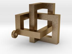 Intreccio Parallelepipedi Def in Polished Gold Steel