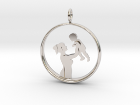 Mother & Son Pendant 1 -Motherhood Collection in Platinum