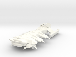 Klingon Troup Transport in White Strong & Flexible Polished