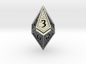 Hedron D10 (v2 open) Spindown - Hollow in Polished Silver