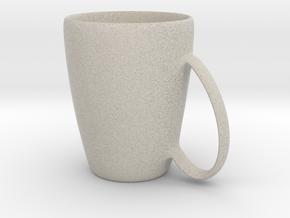 Coffee mug #6 XL - Handle UpSideDown in Natural Sandstone