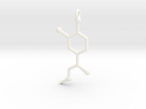 Adrenaline (Epinephrine) Pendant in White Processed Versatile Plastic