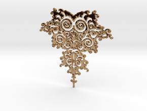 Mandelbrot Fractal Design in Polished Brass