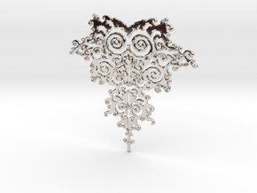 Mandelbrot Fractal Design in Rhodium Plated