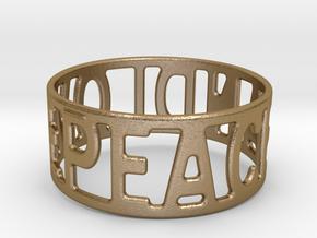 Peaceandlove 68 Bracelet in Polished Gold Steel