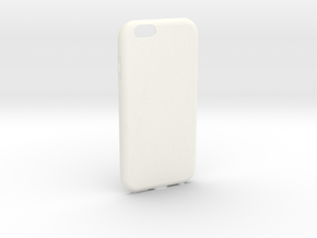 Customizable iPhone 6 case in White Strong & Flexible Polished