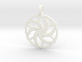 SILVERMOON SPIRAL in White Processed Versatile Plastic