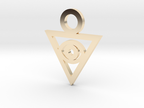 Aigami's Pendant- Yu-Gi-Oh! Darkside of Dimensions in 14k Gold Plated Brass