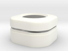 HC-SR501 Arduino Motion Sensor housing v2 in White Processed Versatile Plastic