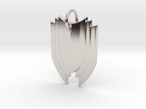 Shield in Rhodium Plated Brass