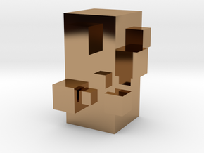 Cubic Chess - Pawn in Polished Brass