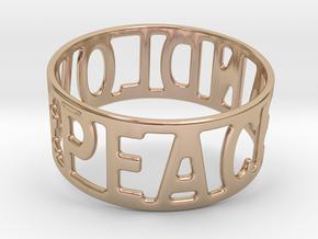 Peaceandlove 70 Bracelet in 14k Rose Gold Plated Brass
