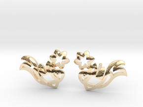 Earring 'Koi-fish' - Buddhist Symbol of Courage in 14k Gold Plated Brass