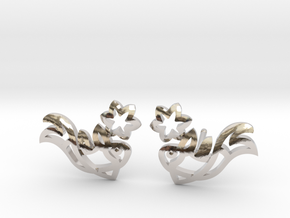 Earring 'Koi-fish' - Buddhist Symbol of Courage in Rhodium Plated Brass