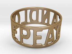 Peaceandlove 72 Bracelet in Polished Gold Steel