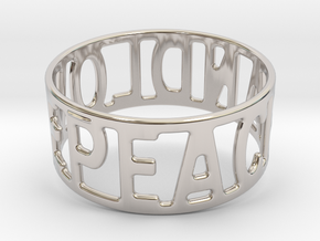 Peaceandlove 75 Bracelet in Rhodium Plated Brass