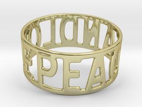 Peaceandlove 78 Bracelet in 18k Gold