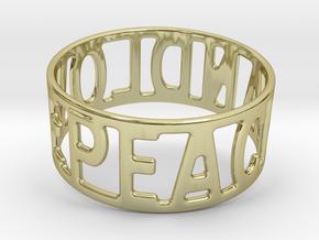 Peaceandlove 80 Bracelet in 18k Gold