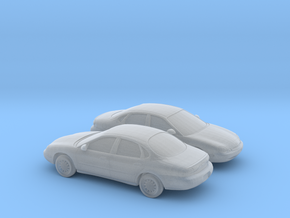 1/160 2X 1995-98 Ford Taurus in Smooth Fine Detail Plastic