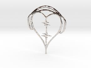 Musical Heart Pendant in Platinum