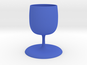goblet in Blue Processed Versatile Plastic