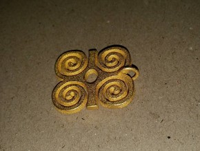 DWENNIMMEN (Adinkra Symbol of Strength) in Polished Gold Steel