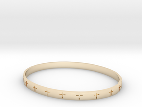 Women's Cross Bracelet in 14K Yellow Gold