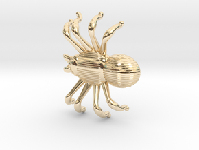 SPIDER in 14k Gold Plated Brass