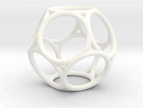 Truncated Dodecahedron in White Processed Versatile Plastic